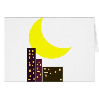 night city moon card