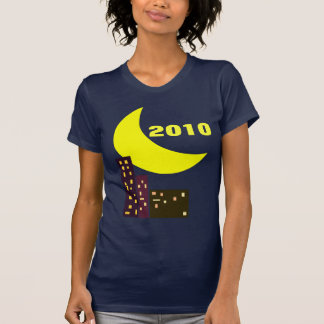 night city moon card 2010 t-shirt