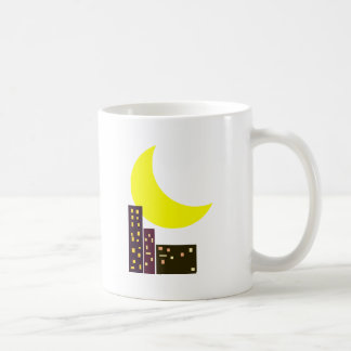 night city moon card classic white coffee mug