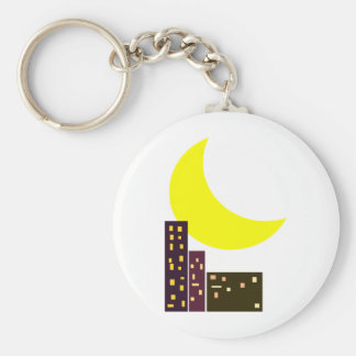 night city moon card keychains