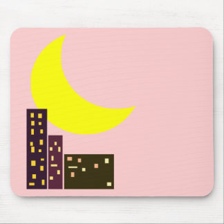 night city moon card mouse pad