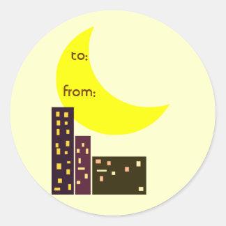 night city moon card stickers
