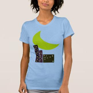 night city moon card t-shirt