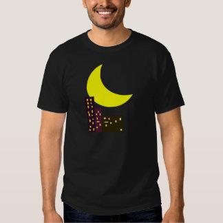 night city moon card tee shirt