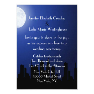 Night City Scape Wedding Invitation