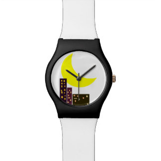 night city sky wrist watch