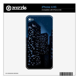 Night Cityscape Background Skins For The iPhone 4S