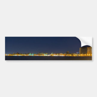 Night cityscape bumper sticker