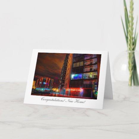 Night Cityscape - Congratulations on your New Home Card