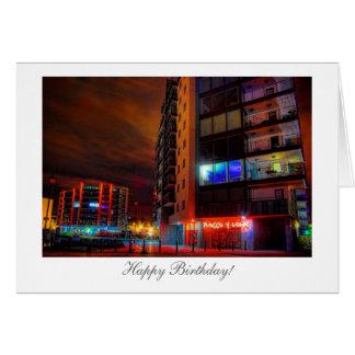 Night Cityscape - Happy Birthday Greeting Card