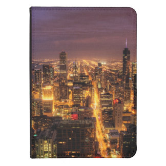 Night cityscape of Chicago Kindle Cover