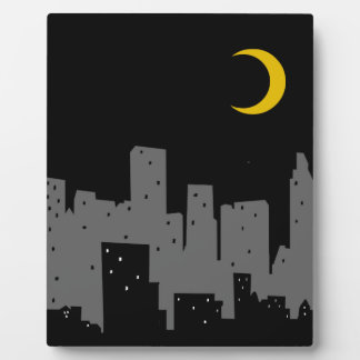 Night Cityscape Display Plaques