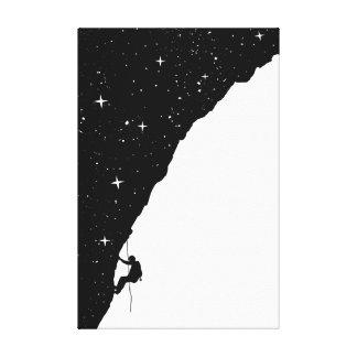 night climbing canvas prints