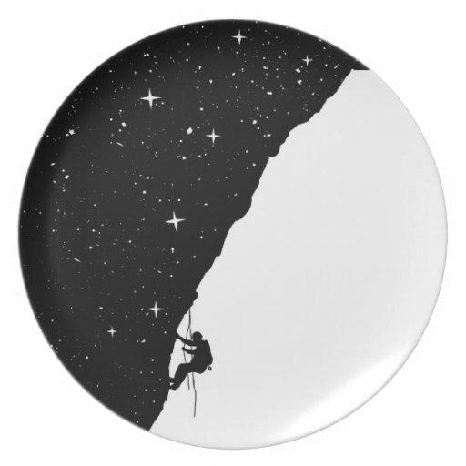 night climbing dinner plates