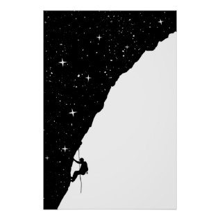 Night Climbing Poster at Zazzle