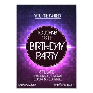 Night Club Style Birthday Invitation