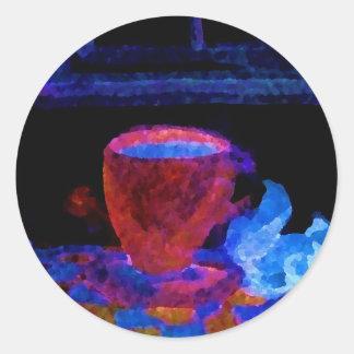 """Night Coffee""  CricketDiane Art & Design Classic Round Sticker"