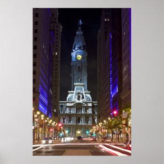 Night Color Broad St Photo By Joe Dantone Poster