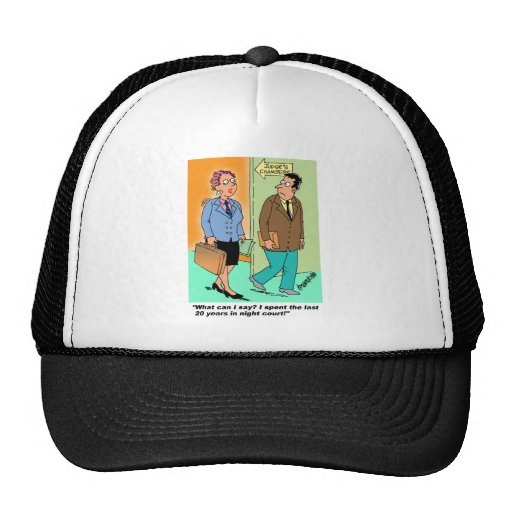 Night Court Cartoon Trucker Hat