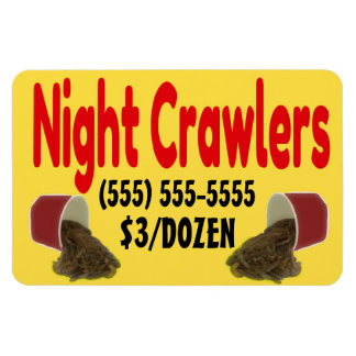 Night Crawlers For Sale Advertisement Rectangular Photo Magnet
