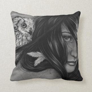 Night Creatures Owl Girl Pillow
