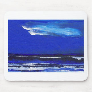 Night Dance Ocean Waves Surf Art Sailing Decor Mouse Pad