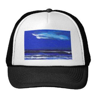 Night Dance Ocean Waves Surf Art Sailing Decor Trucker Hat