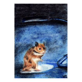 Night Dancer (Hamster) ACEO Art Trading Cards Large Business Card