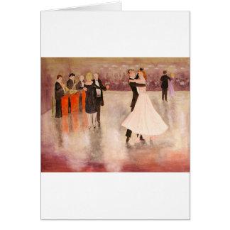 Night Dancing Greeting Card
