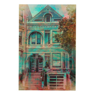 Night Dreams for a MissionDistrict Victorian sfc Wood Wall Art