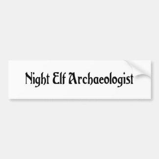 Night Elf Archaeologist Bumper Sticker Car Bumper Sticker