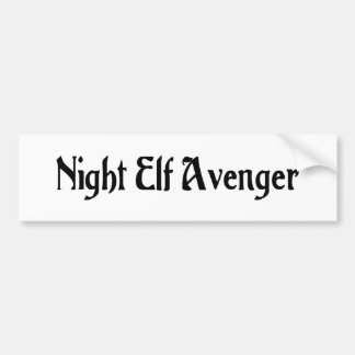 Night Elf Avenger Sticker Bumper Sticker