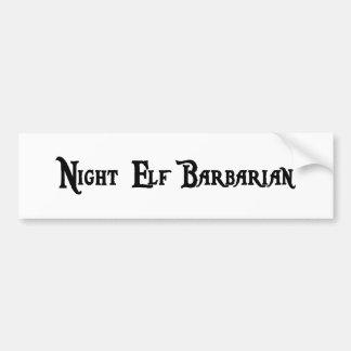 Night Elf Barbarian Sticker Bumper Stickers