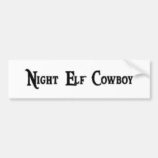 Night Elf Cowboy Sticker Car Bumper Sticker