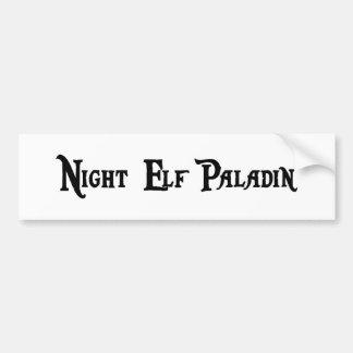 Night Elf Paladin Bumper Sticker