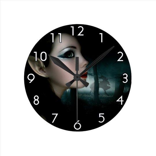 Night Elf Round Clock