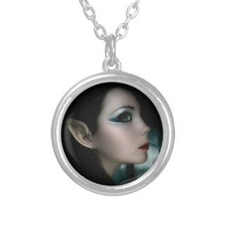 Night Elf Round Pendant Necklace