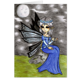 Night fairy stationery note card