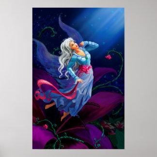 Night fairytale fantasy illustration poster