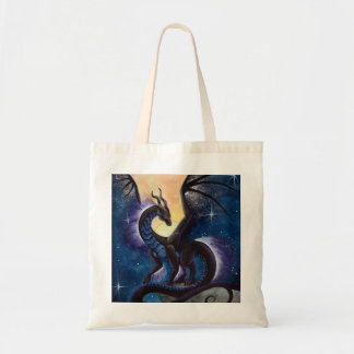 Night Fall Dragon art by Carla Morrow Tote Bag