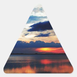 Night Fall Triangle Sticker