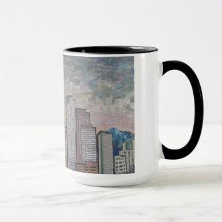 Night Falls on Denver Mug