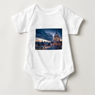Night falls over St. Paul's Cathedral, London Baby Bodysuit