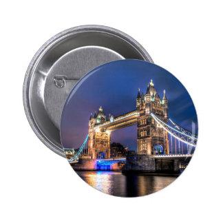 Night falls over Tower Bridge Pinback Button