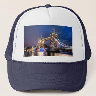 Night falls over Tower Bridge Trucker Hat