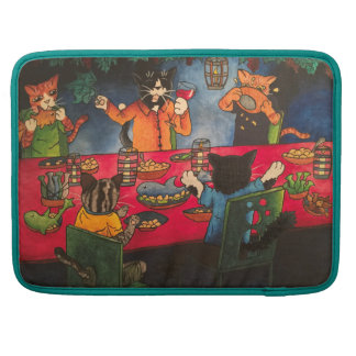 Night Feast Cats Sleeve For MacBooks