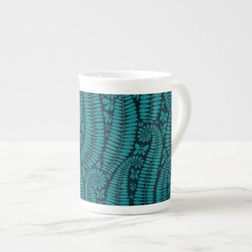 Night Ferns Porcelain Mugs
