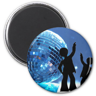Night Fever 2 Inch Round Magnet