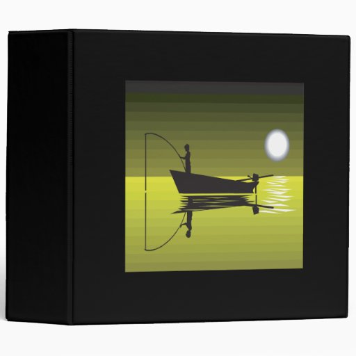 Night Fishing Vinyl Binders