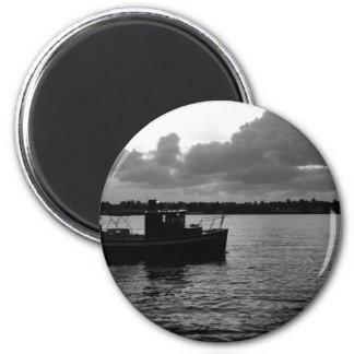 Night Fishing Fridge Magnet